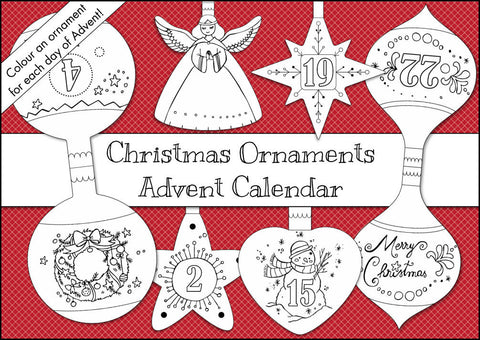 Christmas Ornaments Colouring Advent Calendar