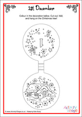 Christmas Ornaments Colouring Advent Calendar - example page 1