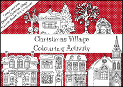 Christmas Village Colouring Activity