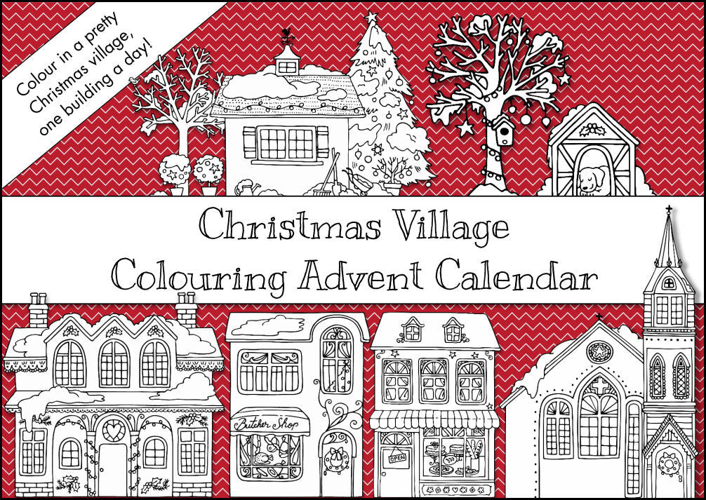 Christmas Village Colouring Advent Calendar
