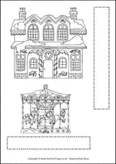 Christmas Village Printable - Example Page 2