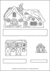Christmas Village Printable - Example Page 3