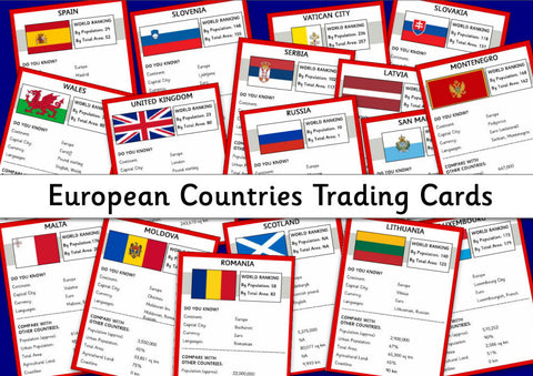 European Countries Trading Cards