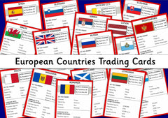 European Countries Trading Cards - Top Trumps Style Digital Download
