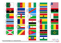 Flags of Africa - Cocktail Stick Size - Page 1