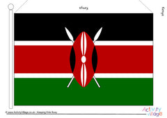 Flags of Africa - Large Printable Flags - Kenya