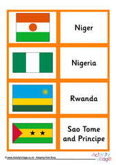 Flags of Africa - Matching Cards - example page 2