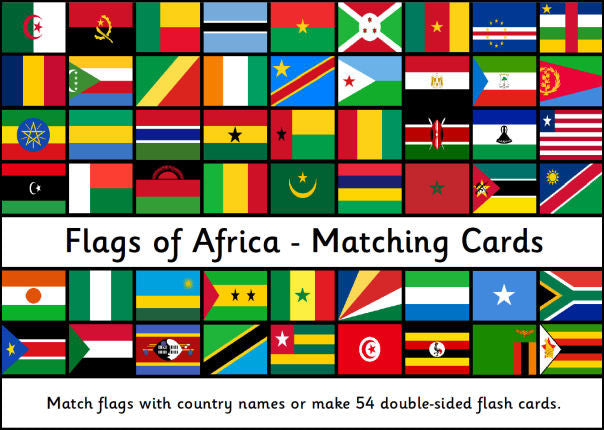 Flags of Africa - Matching Cards