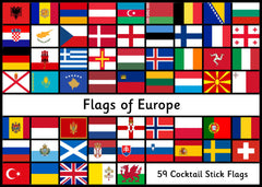 Flags of Europe - Cocktail Stick Size