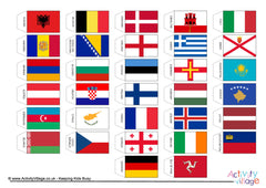 Flags of Europe - Cocktail Stick Size - Example
