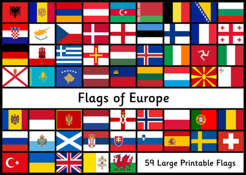 Flags of Europe - Large Printable Flags