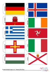 Flags of Europe - Mini Bunting - Example 1
