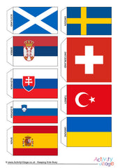 Flags of Europe - Mini Bunting - Example 2