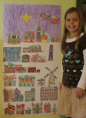 Christmas Village Advent Calendar - Katie's photo of one of her twin's display