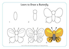 Learn to draw a butterfly