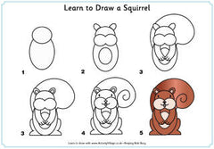 Learn to draw a squirrel