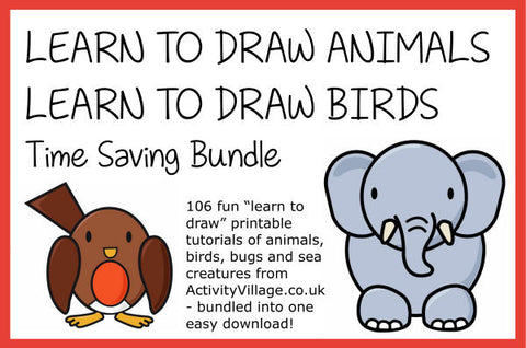 Learn to Draw Animals and Birds Time-Saving Bundle