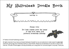 My Halloween Doodle Book - Intro