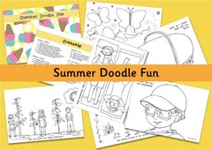 Summer Doodle Fun - Imaginative Colouring Pages for Kids