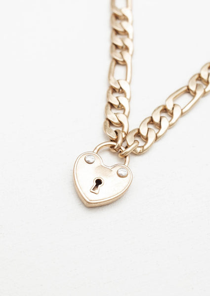 Locked Heart Chain Necklace