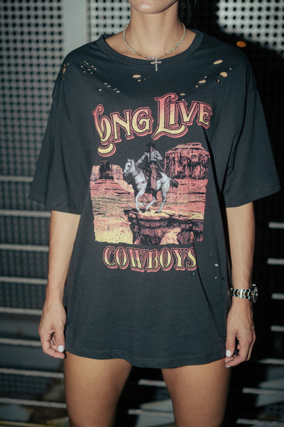 Long Live Cowboys Graphic Tshirt