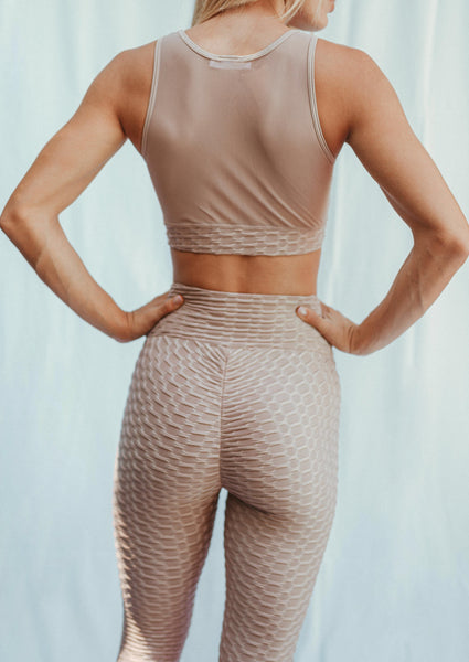 Shop our brand new mocha workout outfit at CYD ROSE. Our stylish and affordable mocha activewear sets include FREE SHIPPING on domestic orders of $60 or more!