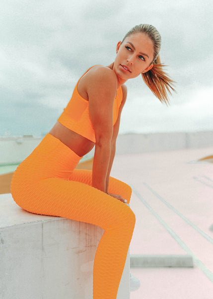 Shop our brand new orange workout outfits at CYD ROSE. Our stylish and affordable orange activewear sets include FREE SHIPPING on domestic orders.