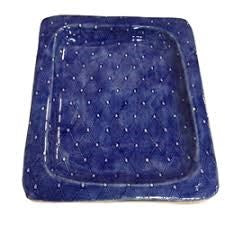 Cobalt Rectangular Diamond Tray