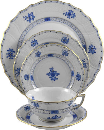 Herend 'Blue Garden' Cup and Saucer