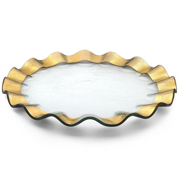 AnnieGlass Buffet Ruffle Series- Gold