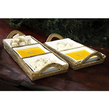 Calaisio Tray With Porcelain Dividers
