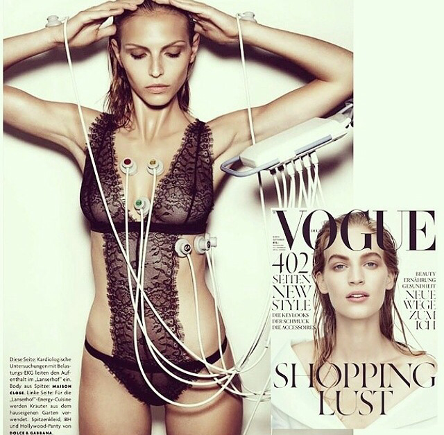 MAISON CLOSE VILLA SATINE BODYSUIT FEATURED IN VOGUE MAGAZINE