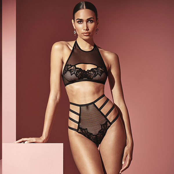 Bracli London Top & High Waist Brief - Naughty Knickers