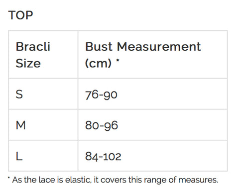 Bracli Top Sizing