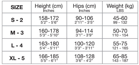 missO Size Guide - Naughty Knickers