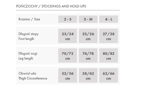FiORE - Size Chart - Naughty Knickers