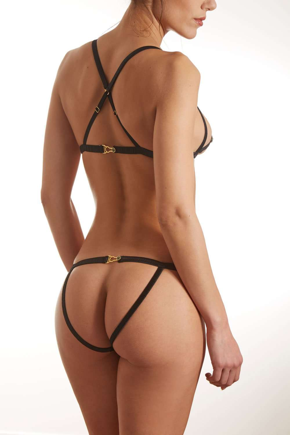 Atelier Amour Please Me Satin Open Back Brief