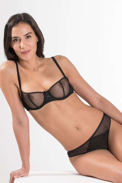 Aubade - Sheer Brief - Black Lingerie - Naughty Knickers