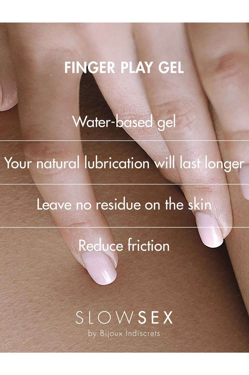 Bijoux Indiscrets Slow Sex Kissable Finger Play Gel