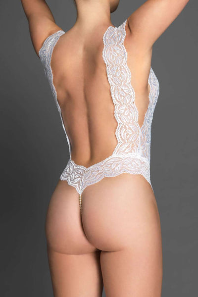 Bracli White Body - Lace Lingerie - Naughty Knickers