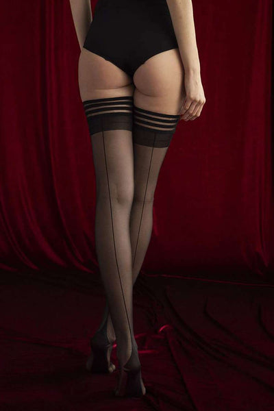 FiORE Sensual Femme Fatale Hold Ups 20 Denier O4064 - Naughty Knickers