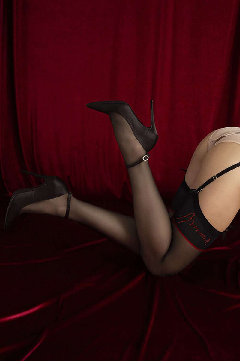 FiORE - Sheer Stockings - Black Stockings - Naughty Knickers