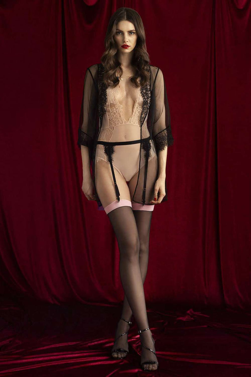 FiORE - Black Stockings - Sheer Stockings - Naughty Knickers