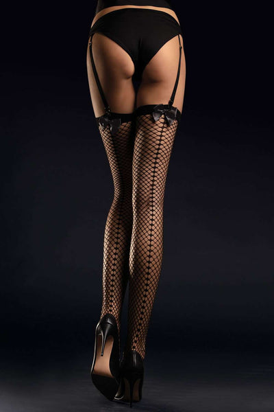 FiORE Fishnet Stockings - Black Stockings - Naughty Knickers