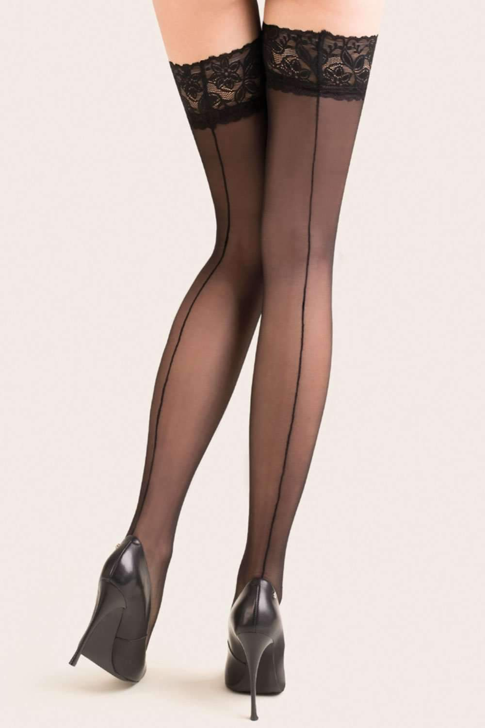 Gabriella Back Seamed Hold Ups 20 Denier