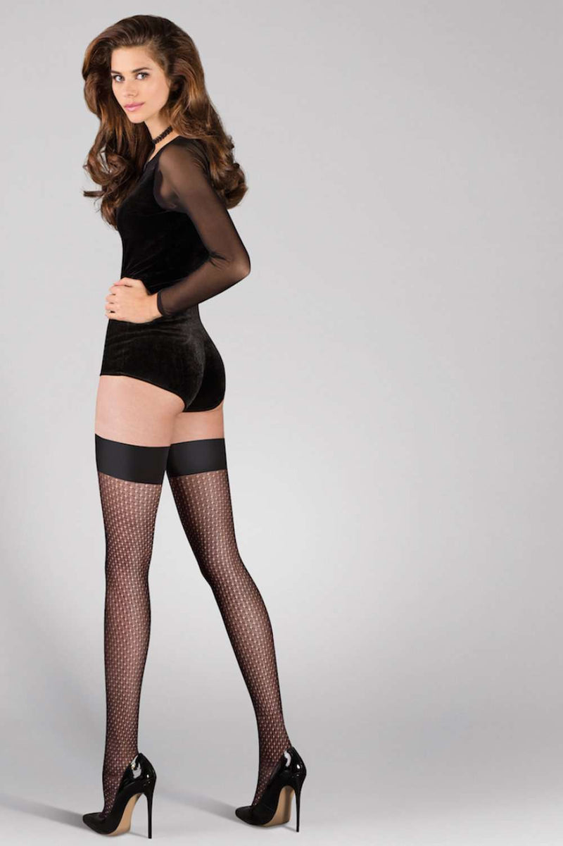 Gabriella Black Hold Ups Rene - Luxury Hosiery - Naughty Knickers