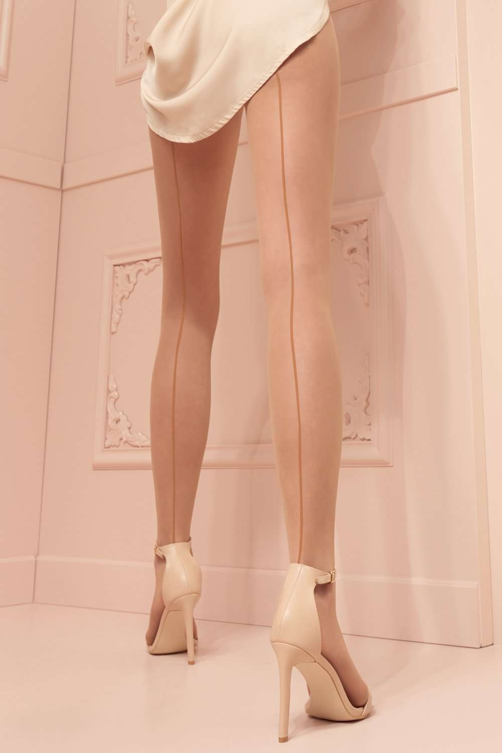 Trasparenze Seamed Tights - Nude Pantyhose - Naughty Knickers