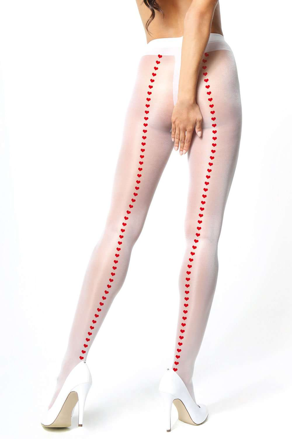 missO Open Crotch Heart Tights 20 Denier