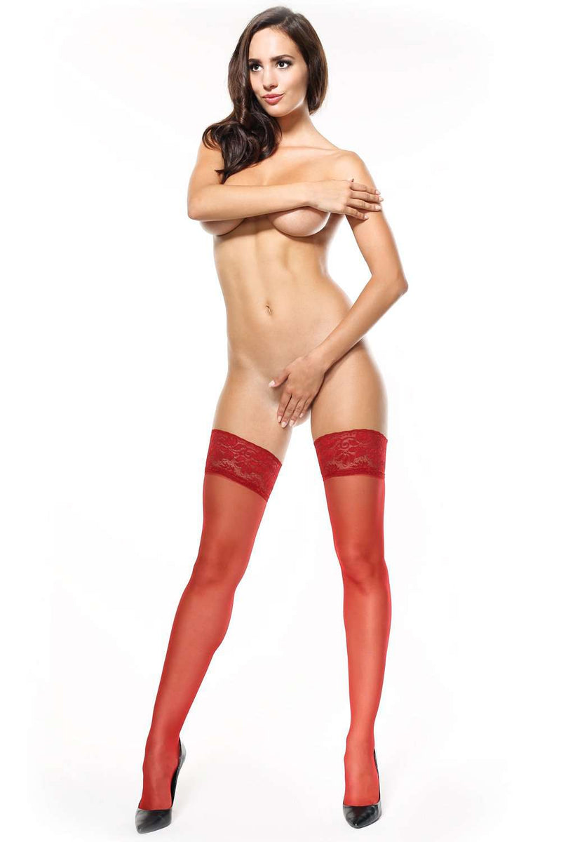 missO Sexy Hold Ups - Red Hosiery - Naughty Knickers