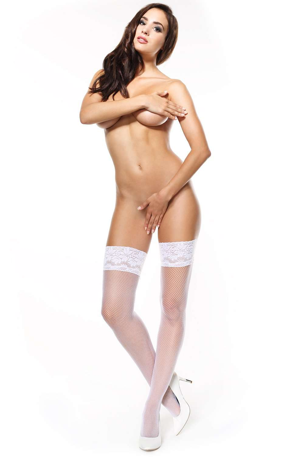 missO Bridal Hold Ups - White Hosiery - Naughty Knickers